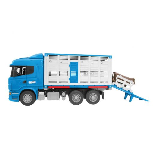 Scania R-Series Cattle Transportation Truck + Cow - 035495