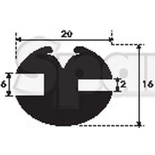 'H' Type Glazing Rubber S.101036