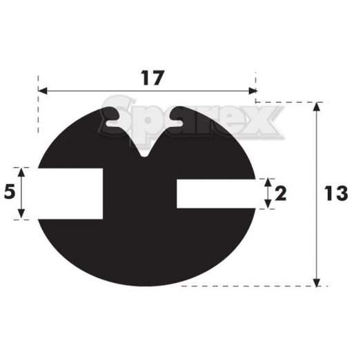 'H' Type Glazing Rubber S.101039