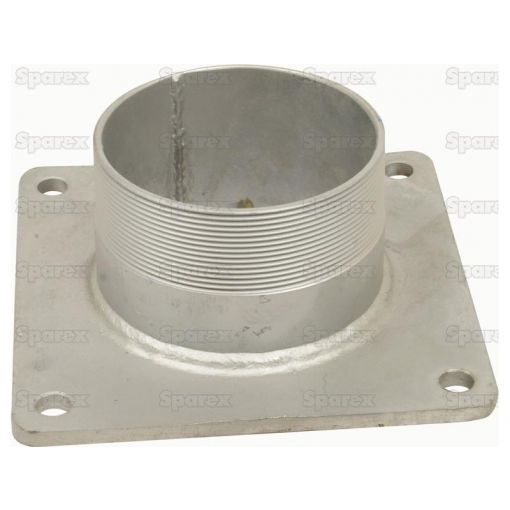 Square Flange with Thread 4 (Galvanised) S.103085