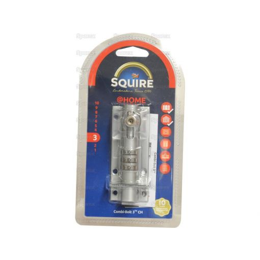 Squire Combi-Bolt 3 - Chrome Finish (Security rating: 3) S.129910