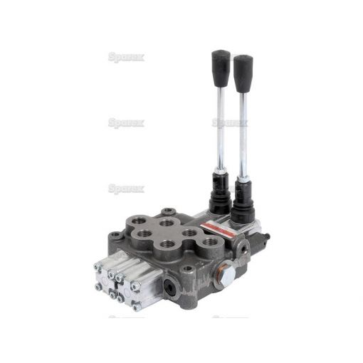 Hydraulic Monoblock Valve3/8''BSP Ports 2 Banks Double/Double acting Spring centered S.24440