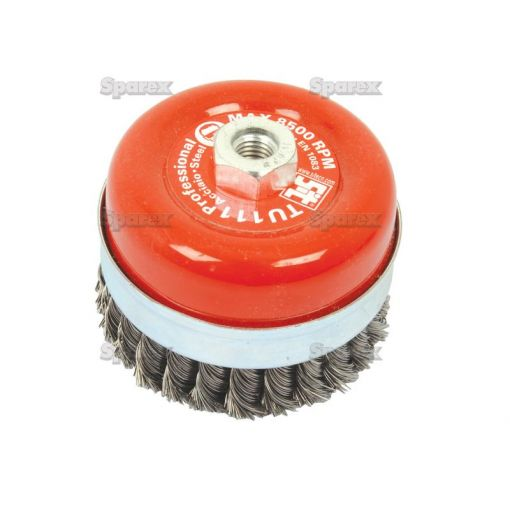 WIRE CUP BRUSH TWIST 70MM S.25364