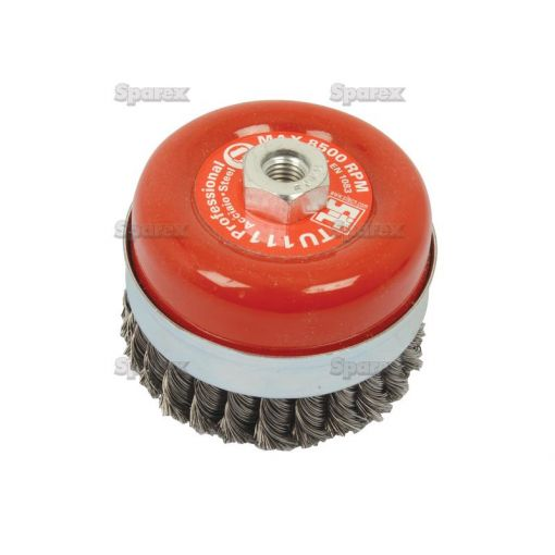 WIRE CUP BRUSH TWIST 95MM S.25365