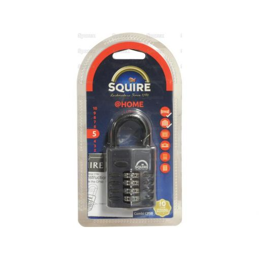 Squire Recodable CP Combination Padlock - Die Cast (Security rating: 5) S.26746