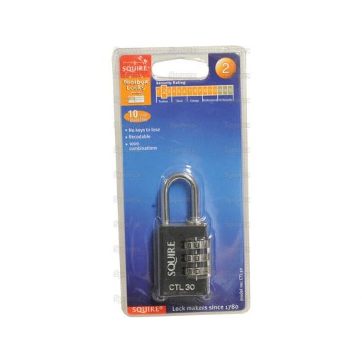 Squire Recodable Toughlock Combination Padlock - Die Cast (Security rating: 2) S.26749