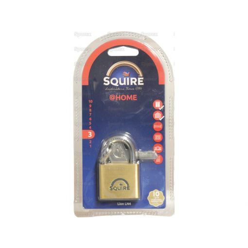 Squire Solid Brass Lion Range Padlock - Brass (Security rating: 3) S.26759