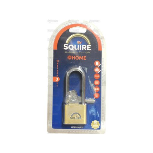 Squire Solid Brass Lion Range Padlock - Brass (Security rating: 3) S.26761