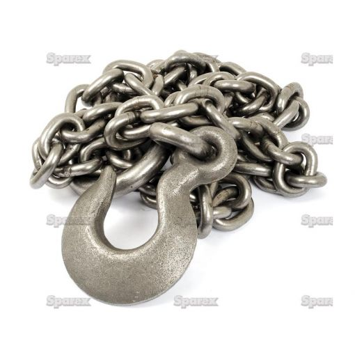 Galvanised Steel Towing Chain 11mm x 3m SWL1900kgs S.27844