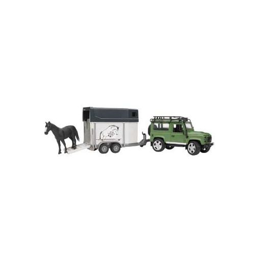 Land Rover Defender with Horse Box and Horse - 025922