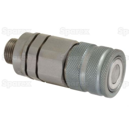 Flat Faced Hydraulic Coupling 3/8'' Male with M18 x 1.5 male thread S.30553
