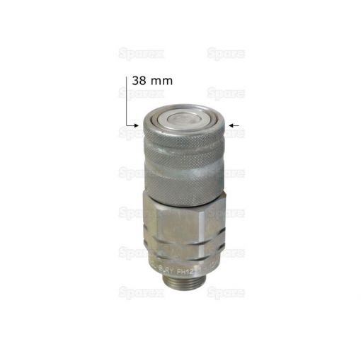 Flat Faced Hydraulic Coupling 1/2'' Male with M18 x 1.5 male thread S.30573