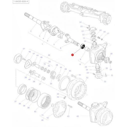 Front Axle Seal - 3428521M2