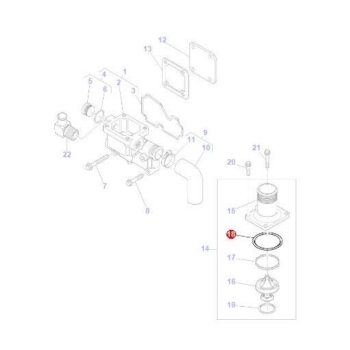 O Ring Thermostat Housing - 4223842M1