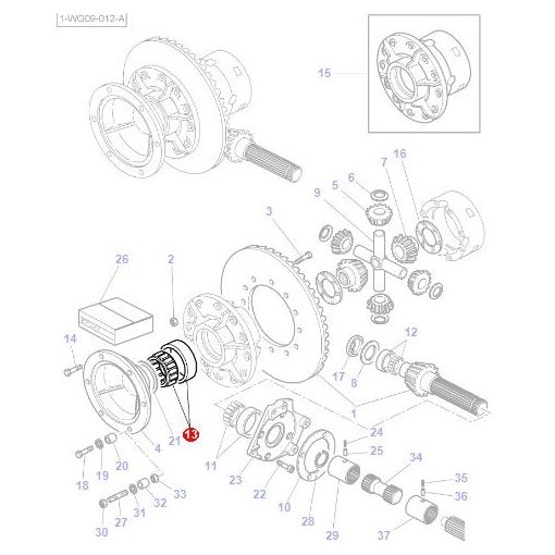Bearing Differential - 1851533M91