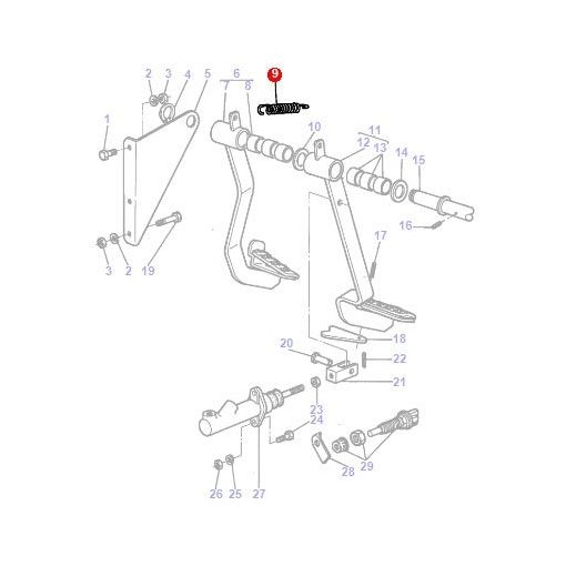 Spring Foot Pedal - 1425298M1