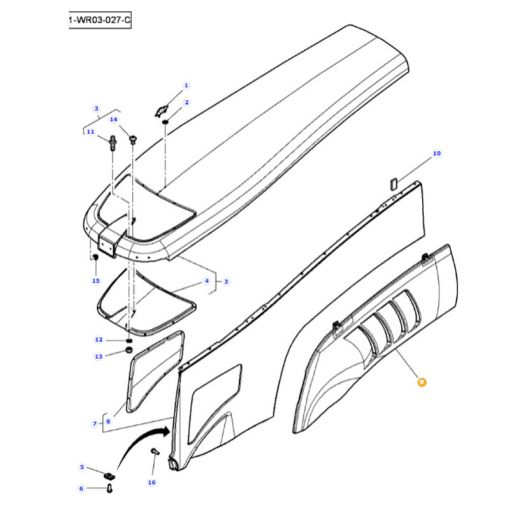Right Hand Side Panel - 4285910M3