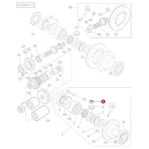 Washer Differential - 3387281M1