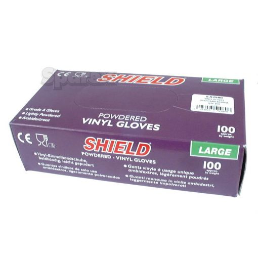 Disposable Vinyl Glove - T.9/L (Qty in Box: 100) S.52980
