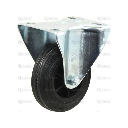 Fixed Rubber Castor Wheel - Capacity: 205kgs S.53624