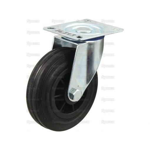 Turning Rubber Castor Wheel - Capacity: 205kgs S.53628