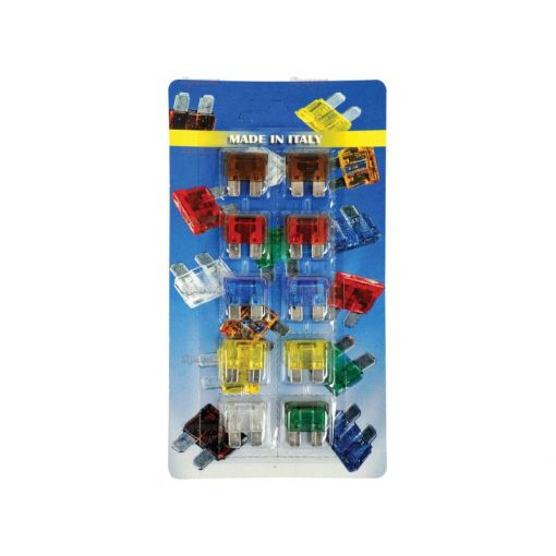 Blade Fuses 10pcs Standard on Card S.55996
