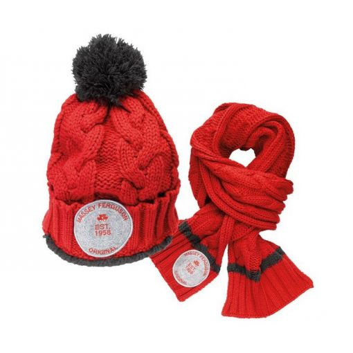 Kids Knitted Hat and Scarf - X993080177000