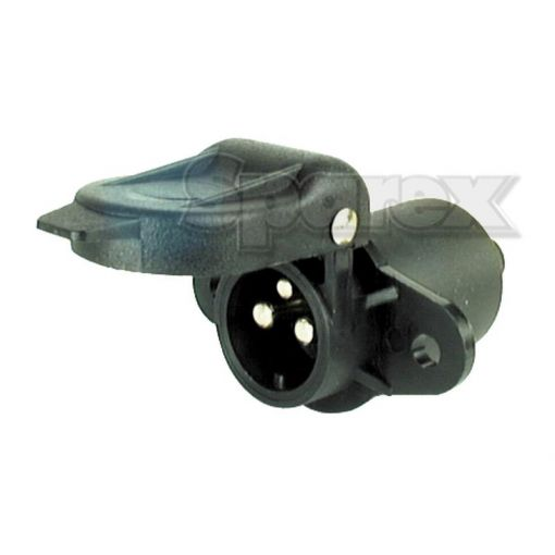 3 Pin Auxiliary Socket With 2 bolt Fixing Male Pin (Plastic) S.56373