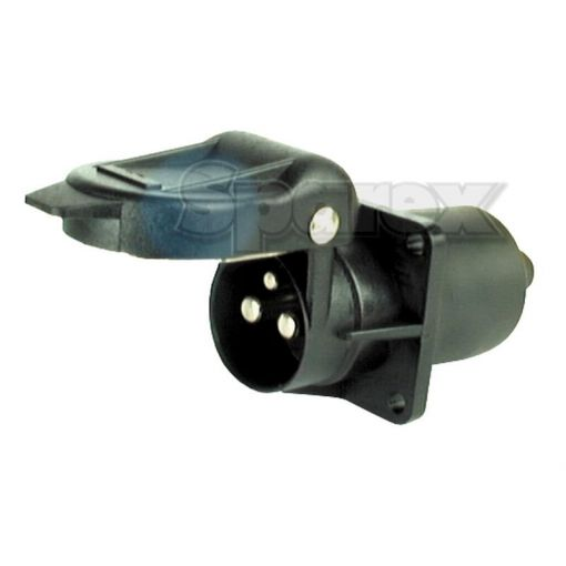 3 Pin Auxiliary Socket with 4 Bolt Fixing Male Pin (Plastic) S.56374