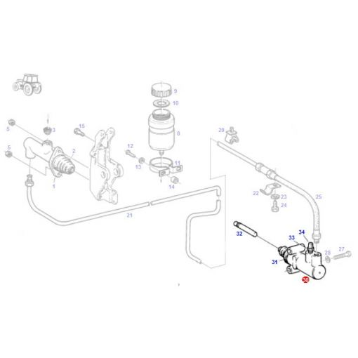 Clutch Actuating Cylinder - G178100100061