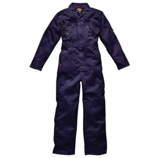 Redhawk Zip Front Overall Navy Blue - WD4839NV