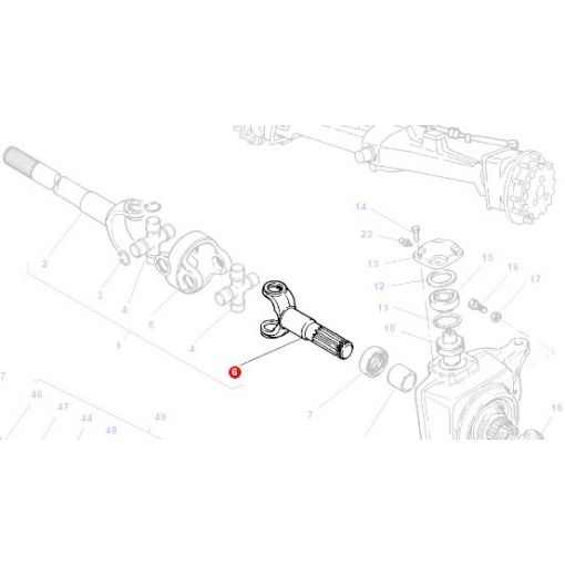 Front Axle Fork - 3764011M1
