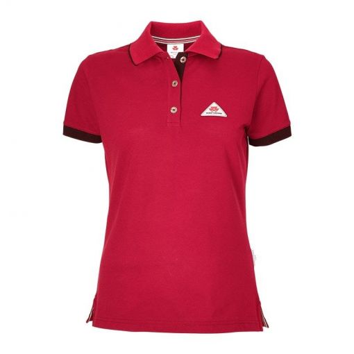 Ladies Red Polo - X993321803