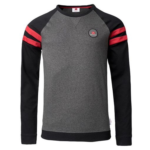Men's Grey and Black Roundneck Pullover - X993312012