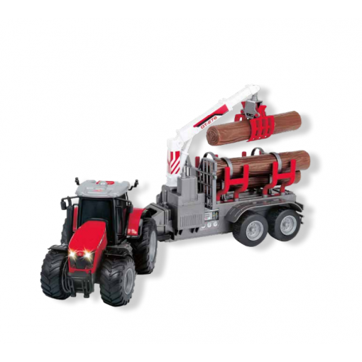 Massey 8737 Wood Loader with Light and Sound Effects - X993173737003