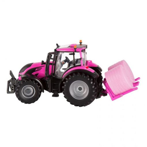 Toy Tractor T254 Pink + Hay Bales - V42801960