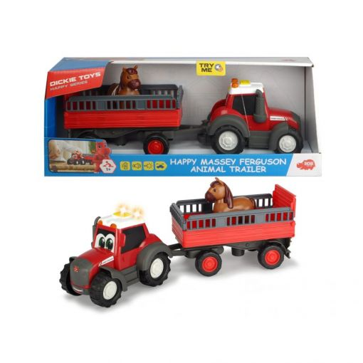 Massey Happy Tractor with Trailer and Horse - X993171901000