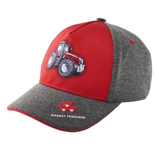Kids Grey and Red Cap - X993312016000