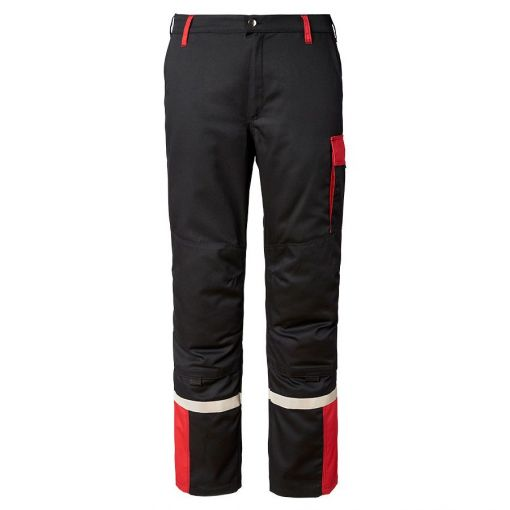 Black And Red Work Trousers - X9934520030