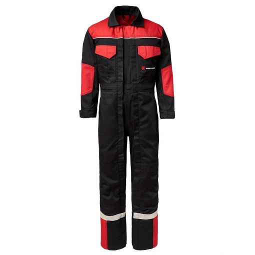 Black and Red Double Zip Overall - X993452001