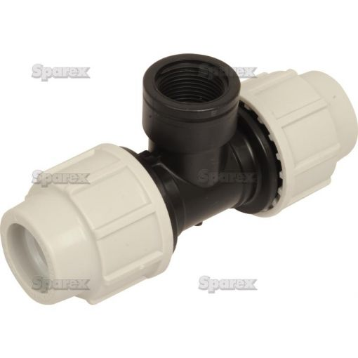 90° Tee with Threaded Female Offtake - 25mm x 3/4'' S.106898