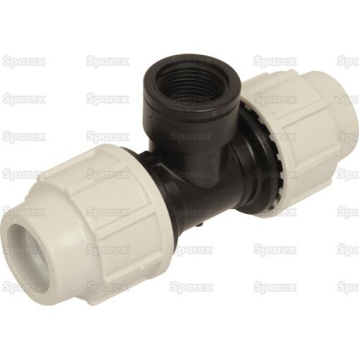 90° Tee with Threaded Female Offtake - 32mm x 1'' S.106899