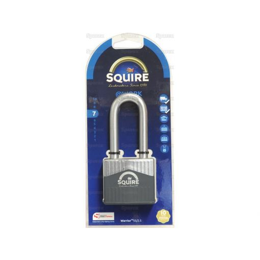 Squire 55/2.5 Warrior Padlock (Security rating: 7) S.129875