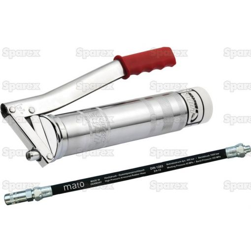 Grease Gun -  (Standard Duty) with 300mm extra safe Rubber Hose S.159965