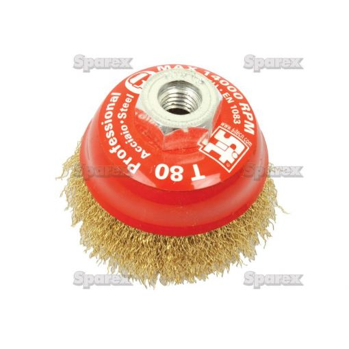 WIRE CUP BRUSH CRIMPED 75MM S.25362