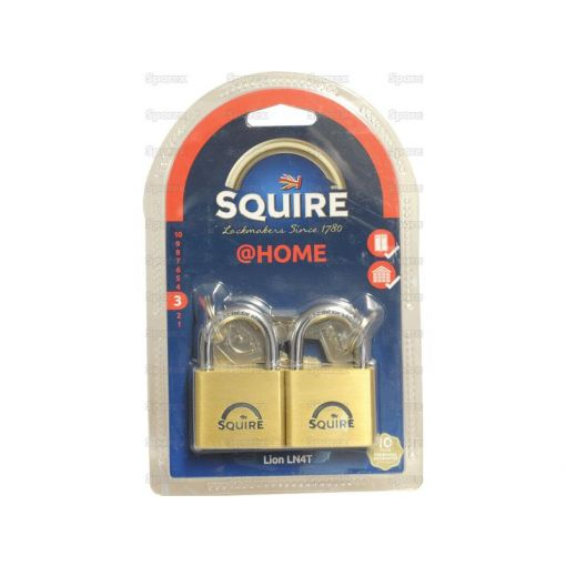 Squire Solid Brass Lion Range Padlock - Brass (Security rating: 3) S.26760