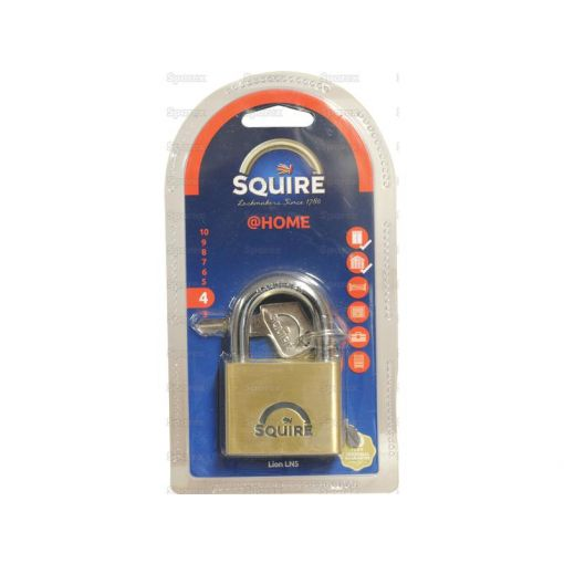 Squire Solid Brass Lion Range Padlock - Brass (Security rating: 4) S.26762