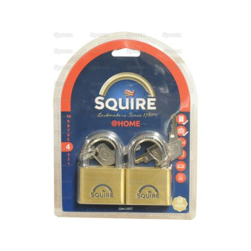 Squire Solid Brass Lion Range Padlock - Brass (Security rating: 4) S.26763
