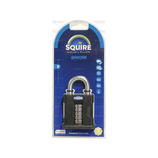 Squire Recodable Stronghold Padlock - Hardened Steel (Security rating: 8) S.28864