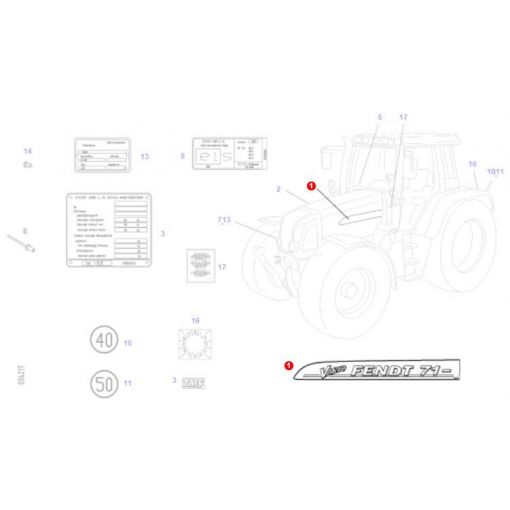 716 Vario Decal - 718501020670